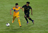 22nd December 2020, Orlando, Florida, USA;  Tigres Leonardo Fernandez (17) during the Concacaf Champions League Final between the LAFC and Tigres on December 22, 2020 at Explorer Stadium in Orlando, FL.