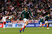Harrison, NJ - Tuesday April 10, 2018: Jesús Godinez during leg two of a  CONCACAF Champions League semi-final match between the New York Red Bulls and C. D. Guadalajara at Red Bull Arena. C. D. Guadalajara defeated the New York Red Bulls 0-0 (1-0 on aggregate).