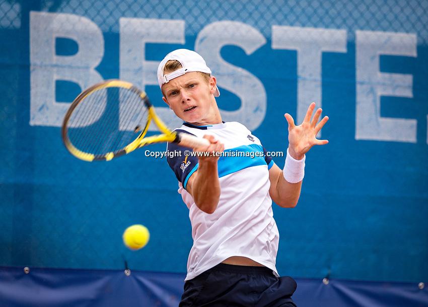 Amstelveen, Netherlands, 1 August 2020, NTC, National Tennis Center, National Tennis Championships, Men's final: Jesper de Jong (NED)<br /> Photo: Henk Koster/tennisimages.com