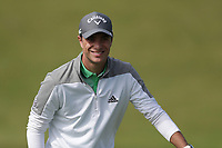 15th July 2021; Royal St Georges Golf Club, Sandwich, Kent, England; The Open Championship, PGA Tour, European Tour Golf;' First Round ; Guido Migliozzi (ITA) reacts after holing his birdie putt on the 2nd hole