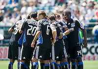 August 2nd, 2009: San Jose Earthquakes starters gather before the start of an MLS match at Buck Shaw Stadium in Santa Clara, California. San Jose Earthquakes defeated Seattle Sounders 4 - 0