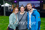 Enjoying the music at the Anseo open air concert in Pearse Park on Saturday, l to r: Lorraine Griffin (Tralee), Judith Lyons and Benjamin Walchli.