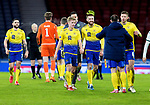 St Johnstone v Hibs…23.01.21   Hampden     BetFred Cup Semi-Final<br />Man of the Match Shaun Rooney celebrates with his teamates at full time<br />Picture by Graeme Hart.<br />Copyright Perthshire Picture Agency<br />Tel: 01738 623350  Mobile: 07990 594431