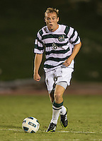 The number 5 ranked Charlotte 49ers play the University of South Carolina Gamecocks at Transamerica field in Charlotte.  Charlotte won 3-2 in the second overtime.  Alan Kirkbride (8)