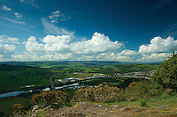 Perth and the River Tay from Kinnoull Hill, Perth, Perthshire