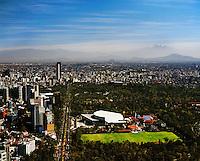 aerial photograph of National Auditorium, Chapultepec Park, Mexico City | fotografía aérea del Auditorio Nacional, Parque de Chapultepec, Ciudad de México