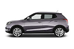 Car Driver side profile view of a 2015 Ssangyong Tivoli Quartz 5 Door Suv Side View