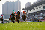 SHA TIN,HONG KONG-APRIL 30: Pakistan Star ,ridden by Silvestre de Sousa (green cap) ,takes on the pace in the Audemars Piguet QEII Cup at Sha Tin Racecourse on April 30,2017 in Sha Tin,New Territories,Hong Kong (Photo by Kaz Ishida/Eclipse Sportswire/Getty Images)