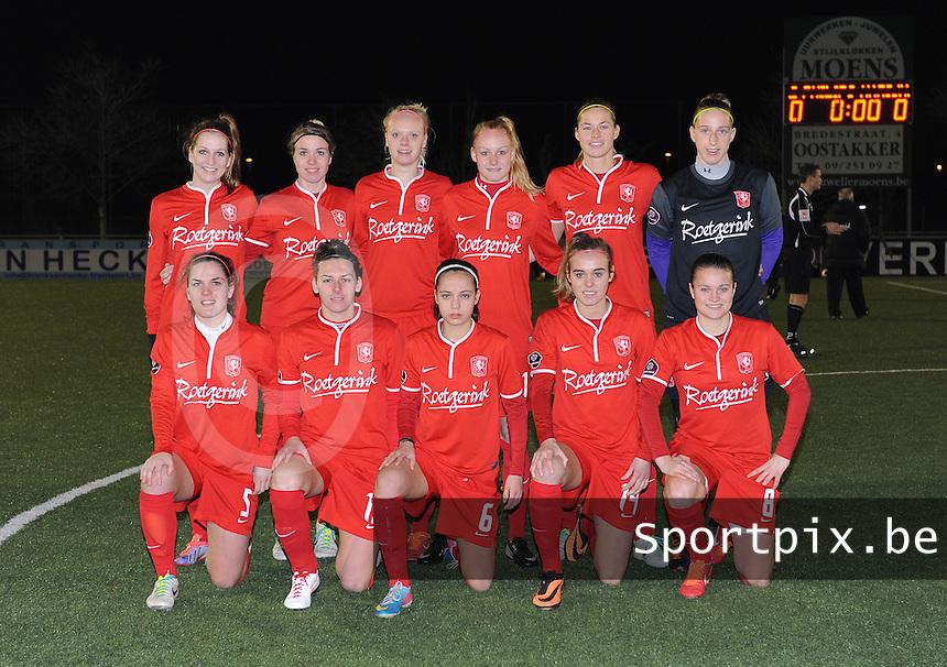 AA GENT LADIES - FC TWENTE :<br /> ploegfoto FC Twente<br /> foto Dirk Vuylsteke / Nikonpro.be