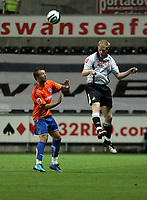 ATTENTION SPORTS PICTURE DESK<br /> Pictured: Shaun MacDonald of Swansea City in action <br /> Re: Coca Cola Championship, Swansea City Football Club v Reading at the Liberty Stadium, Swansea, south Wales. Tuesday 18 August 2009<br /> Picture by D Legakis Photography / Athena Picture Agency, 24 Belgrave Court, Swansea, SA1 4PY, 07815441513
