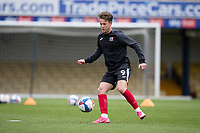 Ben Seymour of Exeter City warming up during Southend United vs Exeter City, Sky Bet EFL League 2 Football at Roots Hall on 10th October 2020