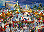 Marcello, CHRISTMAS LANDSCAPES, WEIHNACHTEN WINTERLANDSCHAFTEN, NAVIDAD PAISAJES DE INVIERNO, paintings+++++,ITMC1911a,#XL# ,puzzle