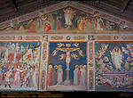 Sacristy Frescoes Ascent to Calvary Aretino Crucifixion Gaddi Ascension and Resurrection Gerini 1330 Santa Croce Florence
