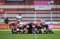 5th September 2020; Kingsholm Stadium, Gloucester, Gloucestershire, England; English Premiership Rugby, Gloucester versus London Irish; Stephen Varney of Gloucester feeds the ball into the scrum