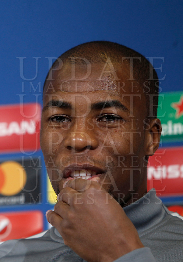 Football Soccer - Monaco Press Conference- Uefa Champions League, Juventus stadium, Turin, Italy, May 8, 2017.<br /> Monaco's Djibril Sidibé during the press conference before the semifinal against Juventus.