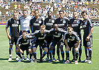 02 August 2009:  Earthquakes Starting XI pose together for group photo before the game against Sounders FC at Buck Shaw Stadium in Santa Clara, California.   Earthquakes defeated Sounders FC, 4-0.