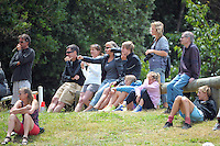 Spectators watch the first round of the 2014 New Zealand National Cross-country Mountainbiking Championships at Mount Victoria, Wellington, New Zealand on Sunday, 19 January 2014. Photo: Dave Lintott / lintottphoto.co.nz
