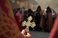 Easter Sunday at St James Armenian Convent, in the Armenian Quarter of the Old City of Jerusalem. May 2013.
