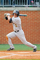 Bill Cullen (2) of the Virginia Commonwealth Rams at bat against the Charlotte 49ers at Robert and Mariam Hayes Stadium on March 30, 2013 in Charlotte, North Carolina.  The Rams defeated the 49ers 4-3 in game two of a double-header.  (Brian Westerholt/Four Seam Images)