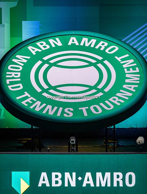 Rotterdam, The Netherlands, 28 Februari 2021, ABNAMRO World Tennis Tournament, Ahoy, Logo<br /> Photo: www.tennisimages.com/henkkoster