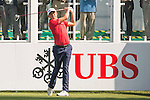 David Lipsky of USA tees off the first hole during the 58th UBS Hong Kong Open as part of the European Tour on 08 December 2016, at the Hong Kong Golf Club, Fanling, Hong Kong, China. Photo by Marcio Rodrigo Machado / Power Sport Images
