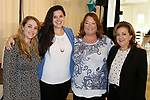 SOUTHINGTON  CT. - 29 October 2019-10229SV25- From left, Meghan Rickard of Southington, Whitney Cadett of Wolcott, Kathy Rickard of Southington, and Rosemary Briglia of Middlebury attend the Waterbury Chamber annual Business Women's Forum in Southington Tuesday.<br />  Steven Valenti Republican-American