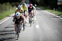 Nico Denz (DEU/AG2R-La Mondiale) leading the breakaway group<br /> <br /> 60th Grand Prix de Wallonie 2019<br /> 1 day race from Blegny to Citadelle de Namur (BEL / 206km)<br /> <br /> ©kramon