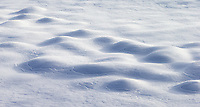 Changing weather conditions can create some interesting patterns in the snow.