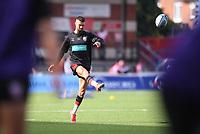 9th October 2021; Kingsholm Stadium, Gloucester, England; Gallagher Premiership Rugby, Gloucester versus Sale Sharks;  Adam Hastings of Gloucester warms up