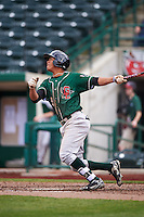 Great Lakes Loons left fielder Ariel Sandoval (15) during the second game of a doubleheader against the Fort Wayne TinCaps on May 11, 2016 at Parkview Field in Fort Wayne, Indiana.  Great Lakes defeated Fort Wayne 5-0.  (Mike Janes/Four Seam Images)