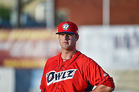 Austin Young (39) of the Orem Owlz during the game against the Ogden Raptors in Pioneer League action at Lindquist Field on June 18, 2015 in Ogden, Utah. This was Opening Night play of the 2015 Pioneer League season.  (Stephen Smith/Four Seam Images)