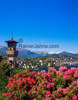 Schweiz, Tessin, Blick von Paradiso auf Lugano   Switzerland, Ticino, view from Paradiso towards Lugano