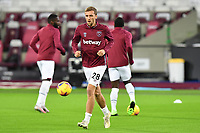 Tomas Soucek of West Ham United warms up during West Ham United vs Aston Villa, Premier League Football at The London Stadium on 30th November 2020