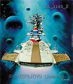 Interlitho, Luis, FANTASY, paintings, universe, spacelab, KL, KL3165/2,#fantasy# illustrations, pinturas