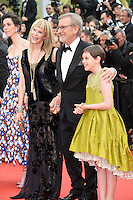 """FRA: """"THE BFG"""" Red Carpet- The 69th Annual Cannes Film Festival - Kate Capshaw, Steven Spielberg, Ruby Barnhill attend """"THE BFG"""". Red Carpet during The 69th Annual Cannes Film Festival on May 14, 2016 in Cannes, France."""