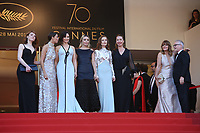 EMILIE DEQUENNE, BERENICE BEJO, JULIETTE BINOCHE, ELODIE BOUCHEZ, ISABELLE HUPPERT, EMMANUELLE BERCOT AND NASTASSJA KINSKI - RED CARPET OF THE 70TH ANNIVERSARY CEREMONY AT THE 70TH FESTIVAL OF CANNES 2017