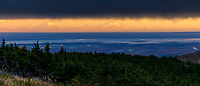 Fall landscape of Denali and Alaska range underneath cloud layer with Anchorage, Alaska in foreground. <br /> <br /> Photo by Jeff Schultz/SchultzPhoto.com  (C) 2018  ALL RIGHTS RESERVED<br /> <br /> David Young 2018 October Photo tour/workshop