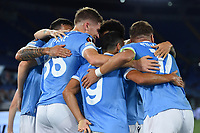 30th September 2021;  Stadio Olimpico, Rome, Italy;Europa League Football, SS Lazio versus Lokomotiv Moscow; Patric of SS Lazio celebrates after scoring his goal for 2-0 in minute 38