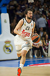 Real Madrid´s Sergio Llull during 2014-15 Euroleague Basketball match between Real Madrid and Galatasaray at Palacio de los Deportes stadium in Madrid, Spain. January 08, 2015. (ALTERPHOTOS/Luis Fernandez)