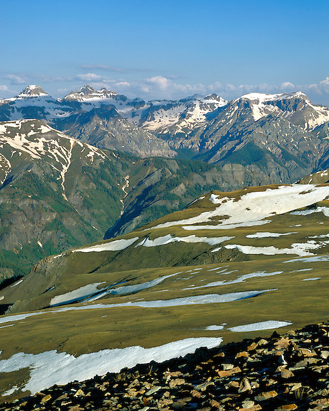 San Juan Mountains from the east at Engineer Pass, Silverton, Colorado, USA .  John leads wildflower photo tours into American Basin and throughout Colorado. All-year long.