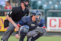 Reno Aces catcher Blake Lalli (21) during pacific coast league baseball game, Friday August 14, 2014 in Round Rock, Tex. Reno leads Round Rock 10-4 at the bottom of fifth inning in the last game of best of three series. (Mo Khursheed/TFV Media via AP Images)