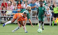Rosana (orange), Amanda Cinalli #15..Saint Louis Athletica defeated Sky Blue F.C 1-0, at Anheuser-Busch Soccer Park, Fenton, MO.