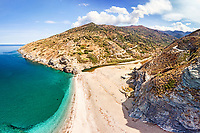 The beach Kallianos in Evia island, Greece
