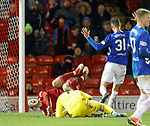 06.02.2019:Aberdeen v Rangers: Allan McGregor and Lewis Ferguson