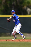 U-Mass Boston Beacons Trevor Bouvier (22) during a game against the Farmingdale State Rams at North Charlotte Regional Park on March 19, 2015 in Port Charlotte, Florida.  U-Mass Boston defeated Farmingdale 9-5.  (Mike Janes/Four Seam Images)