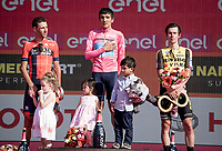 Richard Carapaz (ECU/Movistar) wins the 102nd Giro d'Italia, Vincenzo Nibali (ITA/Bahrain-Merida) is 2nd & Primoz Roglic (SVK/Jumbo-Visma) finishes 3rd<br /> <br /> Stage 21 (ITT): Verona to Verona (17km)<br /> 102nd Giro d'Italia 2019<br /> <br /> ©kramon
