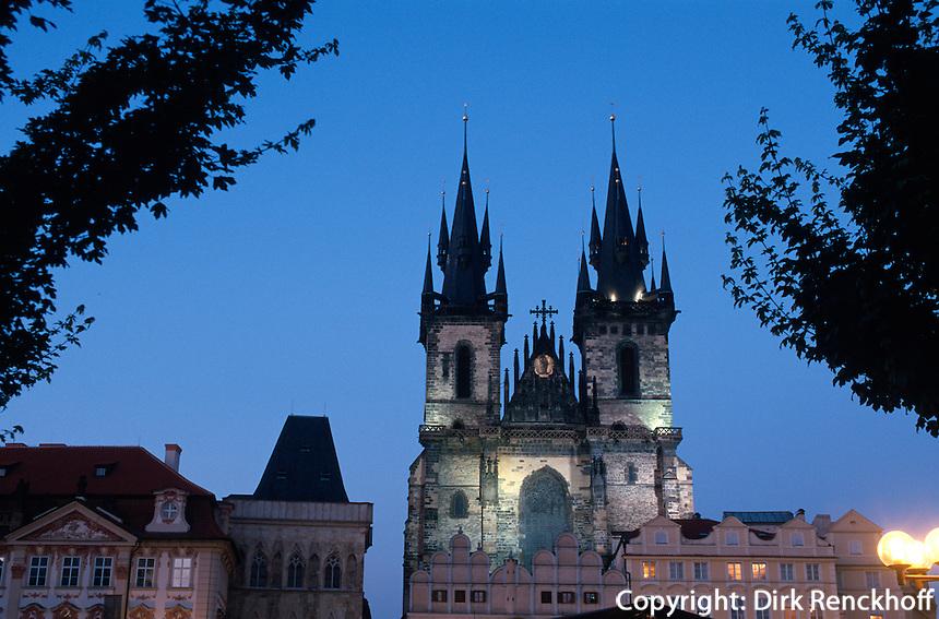 Teyn-Kirche, (Tysky Chram), Prag, Tschechien, Unesco-Weltkulturerbe