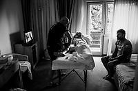 post-stage massage at the Trek-Segafredo hotel<br /> <br /> Stage 15: Valdengo › Bergamo (199km)<br /> 100th Giro d'Italia 2017