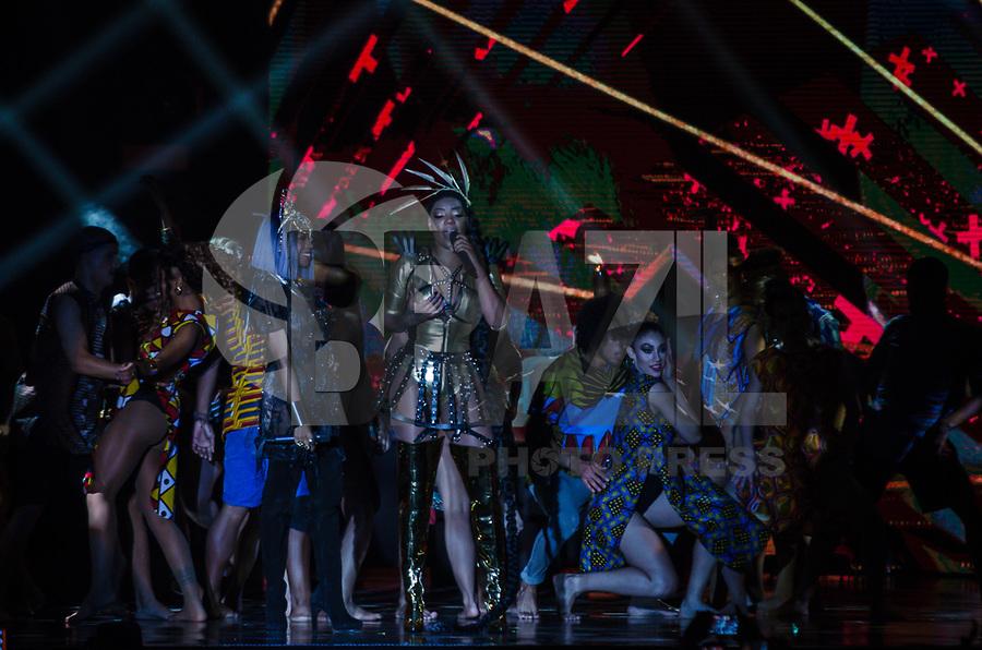RIO DE JANEIRO, RJ, 24.10.2017 - PREMIO-MULTISHOW - A cantora Ludimila vista, durante a cerimônia de entrega do Prêmio Multishow 2017 na Jeunesse Arena, na zona oeste da cidade do Rio de Janeiro, na noite desta terça-feira (24). (Foto: Jayson Braga / Brazil Photo Press)
