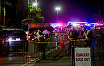 DEL MAR, CA - SEPTEMBER 02: Law enforcement  secures the crime scene after shots were fired by a suspect and the suspect was shot by at least one San Diego Sheriff's deputy before an Ice Cube concert at Del Mar Race Track on September 2, 2018 in Del Mar, California (Photo by Casey Phillips/Eclipse Sportswire/Getty Images)